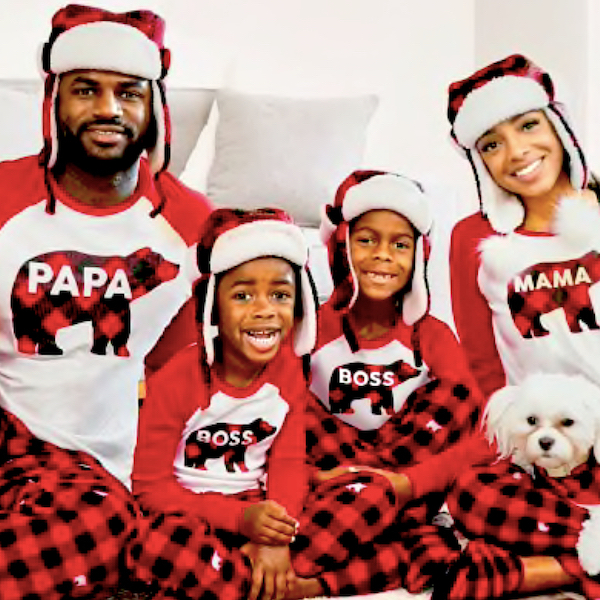 Buffalo Bear Plaid Holiday Family PJs