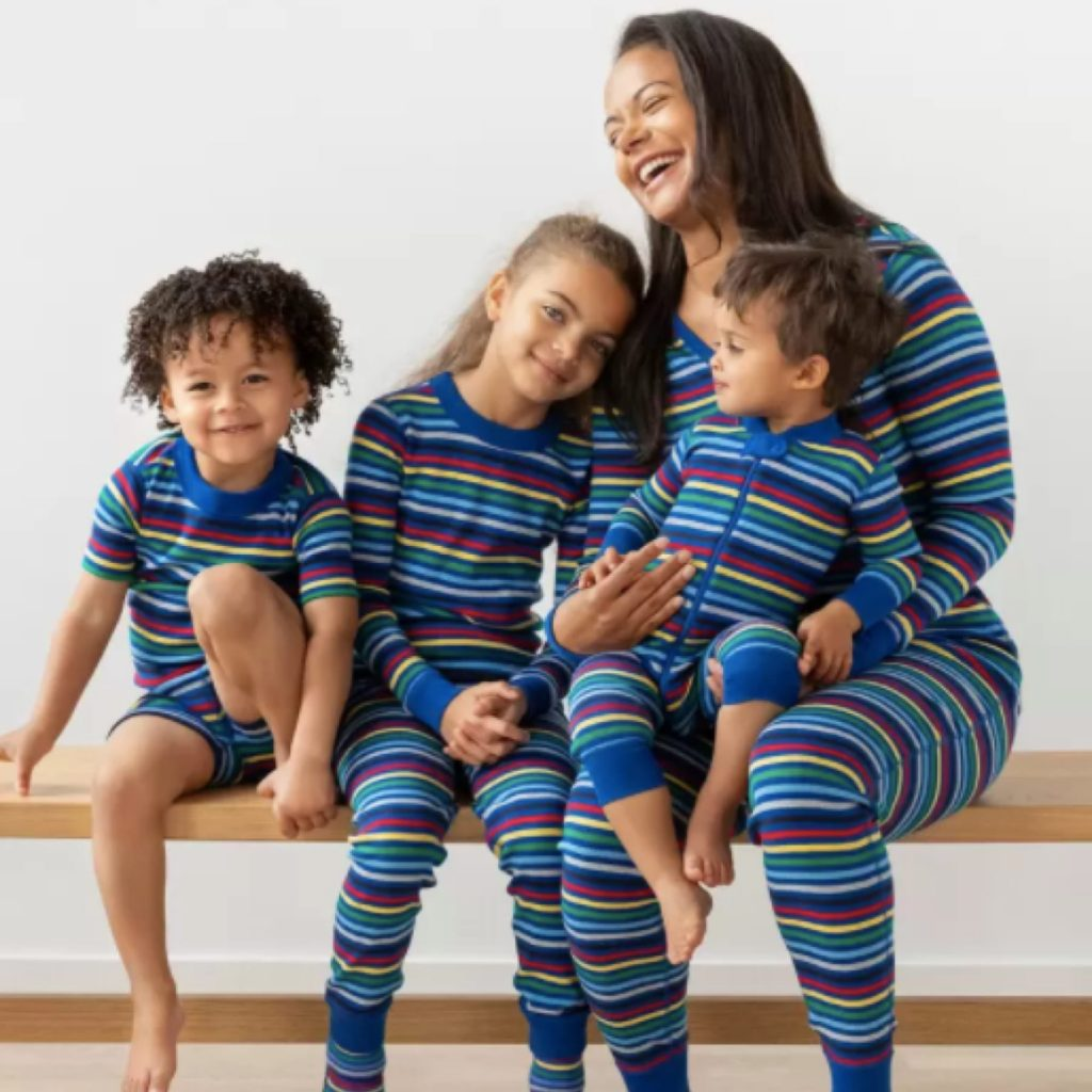 Blue Multi Stripe Family PJs