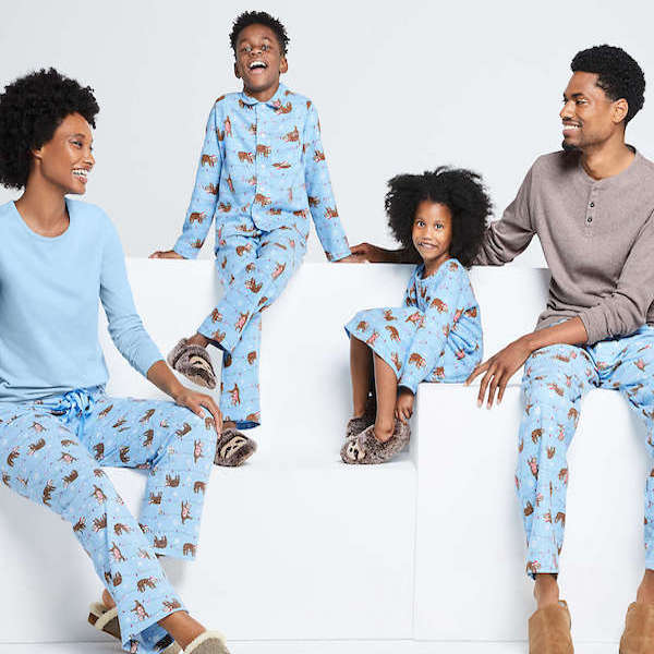 Blue Sloth Holiday PJs