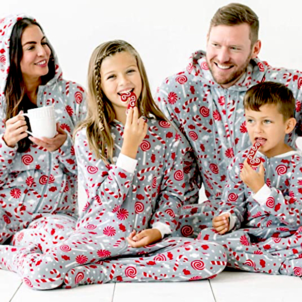 Candy Cane Family Holiday Onesies
