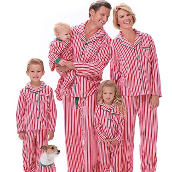 Candy Cane Striped Family Holiday PJs