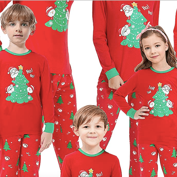 Chrstmas Tree Santa Family PJs
