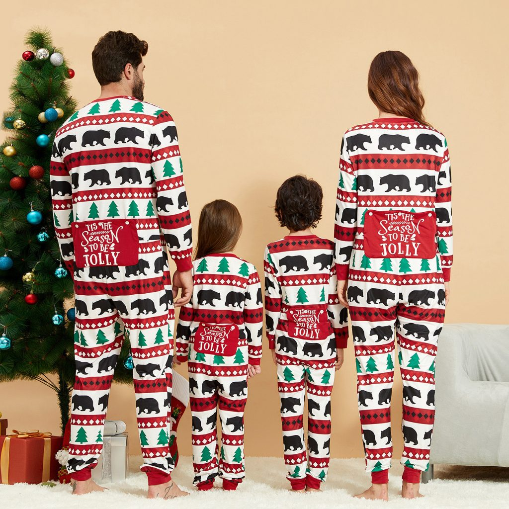 Trees & Bears Family Holiday Onesies