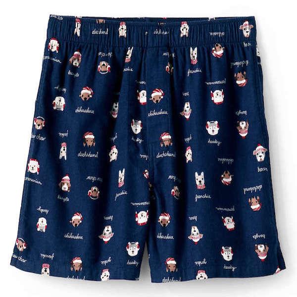 Christmas Dogs Navy PJ Shorts