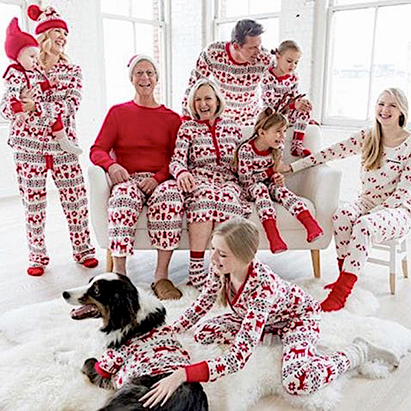 Dear Deer Organic Cotton Family Holiday PJs