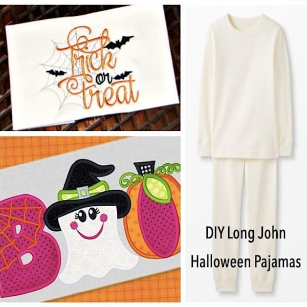 DIY Long John Halloween Family Pajamas