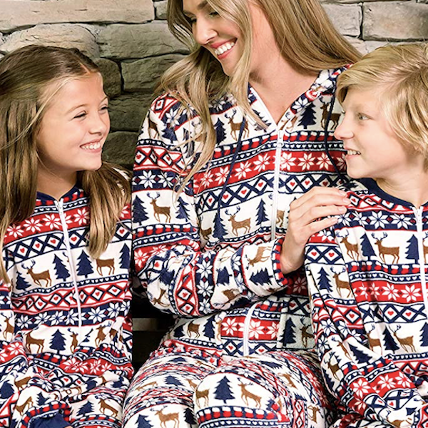 Deer Fair Isle Family Holiday Onesies