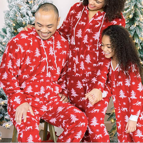 Deer and Tree Family Holiday Onesies