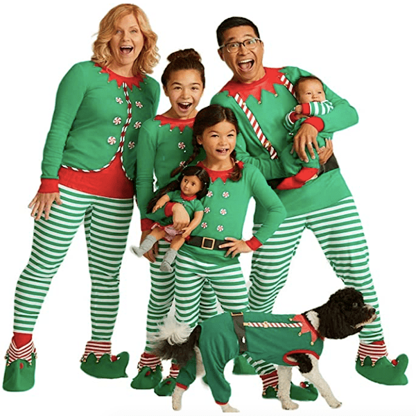 Elf Family Christmas PJs