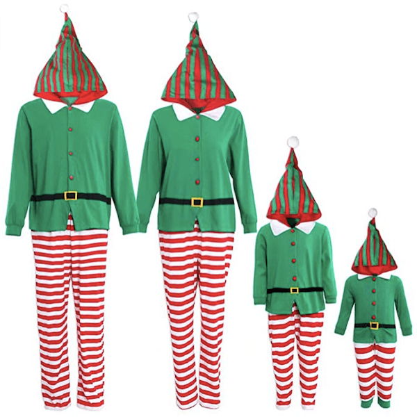 Elf Family Hooded Holiday Onesies