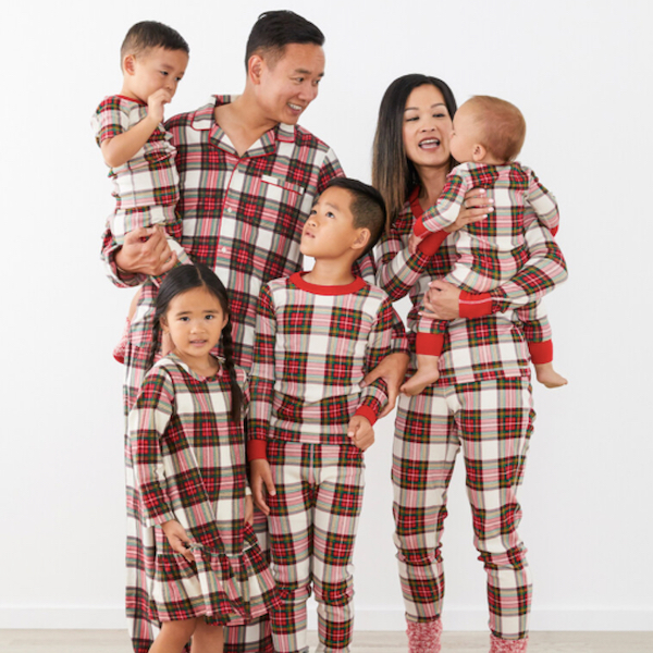 Organic Cotton Holiday Plaid Family PJs
