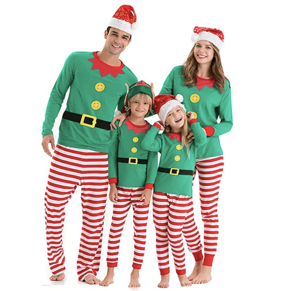 Family Matching Elves Christmas PJs