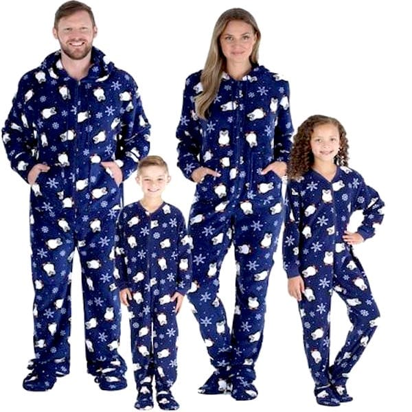 Penguin Fleece Onesie Family PJs