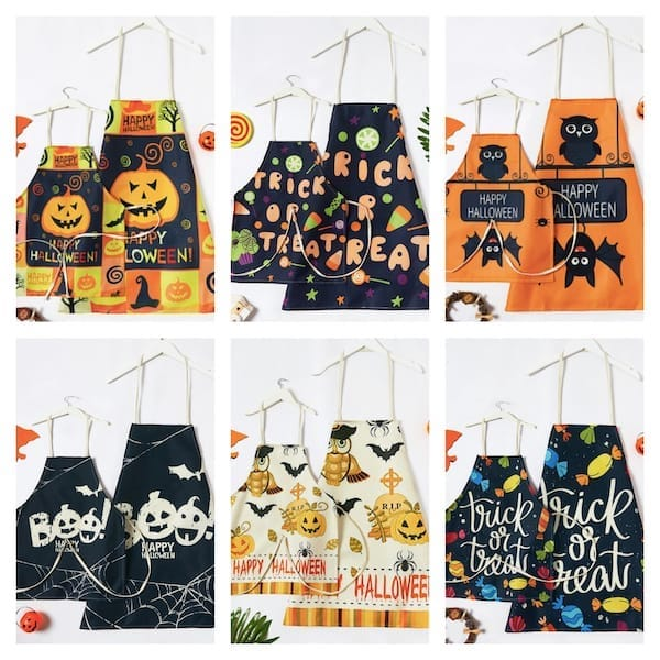 Family Halloween Aprons