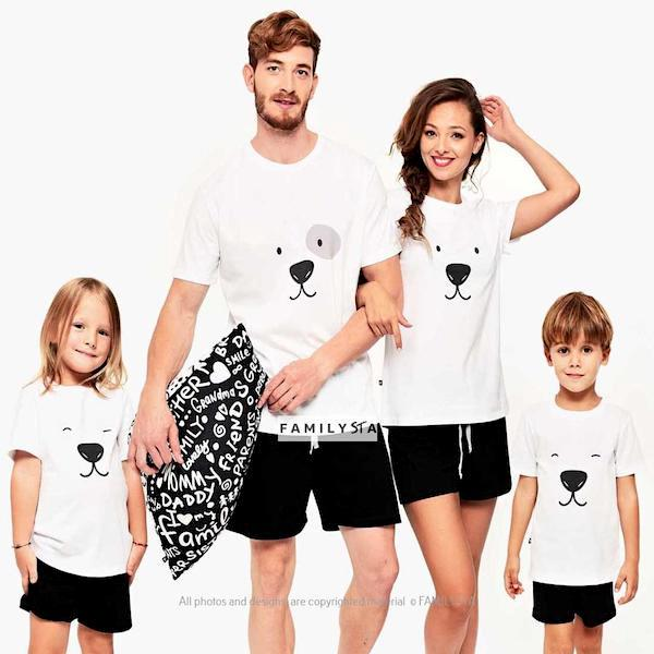 Family Matching Holiday Polar Bear Summer Weight PJs