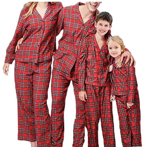 Red Plaid Family Holiday PJs