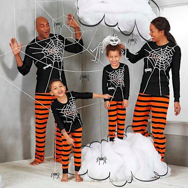 Spider Web Family Halloween PJ Costumes