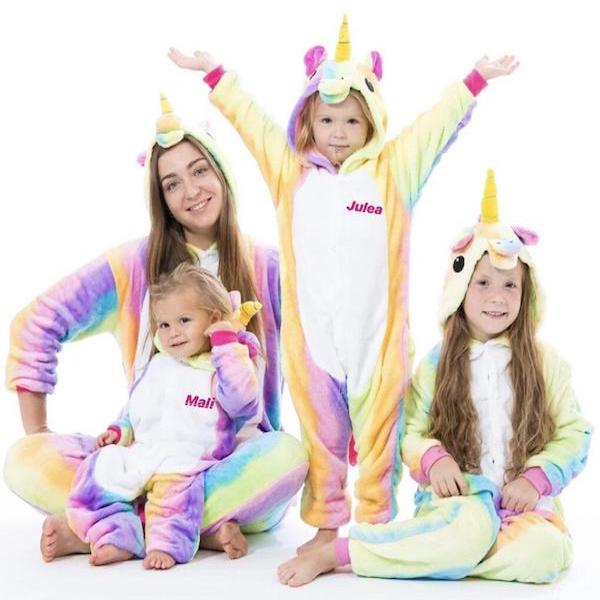 Unicorn Onesie Halloween Family PJs