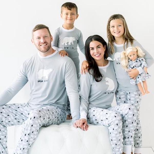 Polar Bear Family Holiday PJs