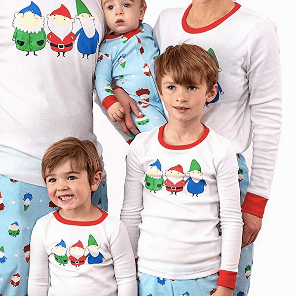 Festive Gnome Family Holiday PJs