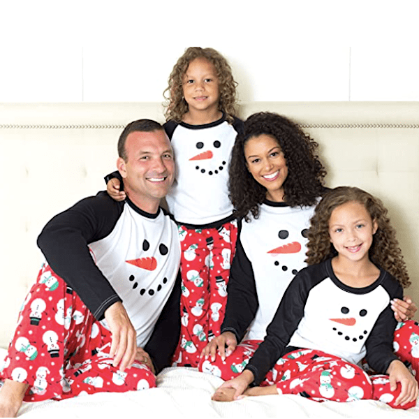 Fleece Snowman Family Holiday PJs