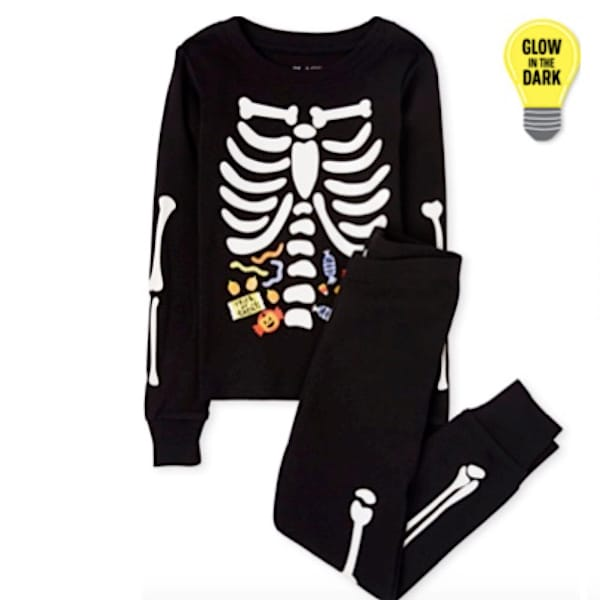 Glow in the Dark Skeleton Family Halloween PJs