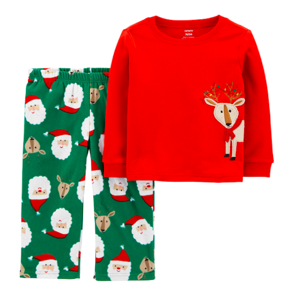 Family Holiday Santa and Reindeer PJs