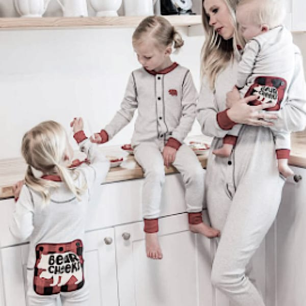 Grey Bear Family Onesies