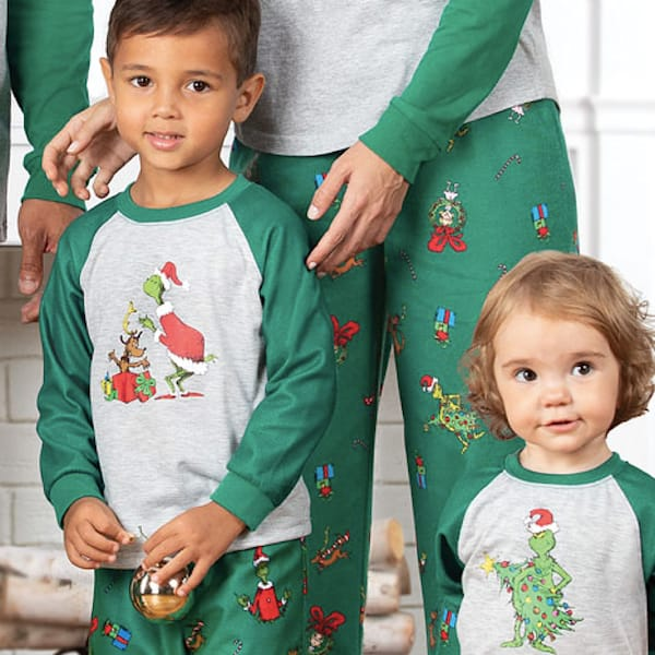 Family Holiday Grinch PJs