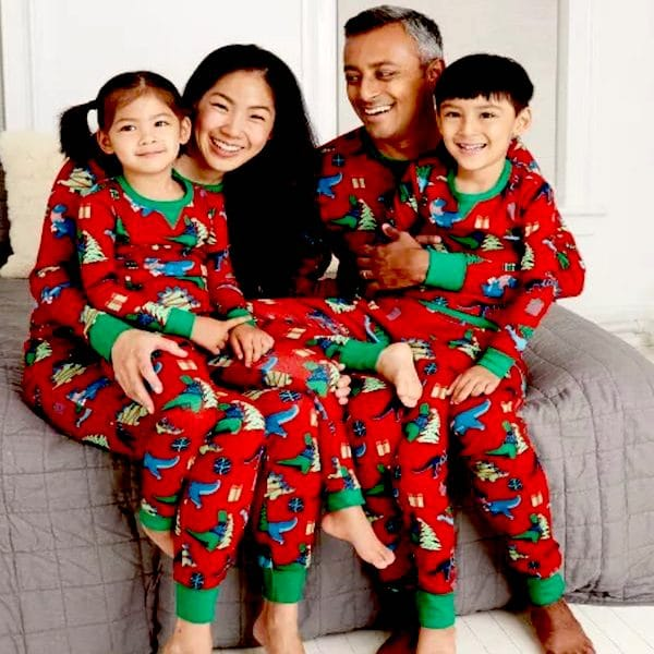 Dinosaur Family Holiday PJs