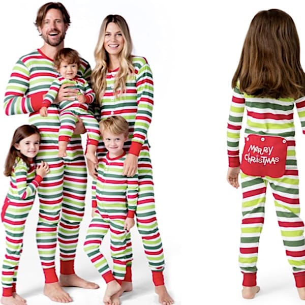 Holiday Stripes Family Union Suits