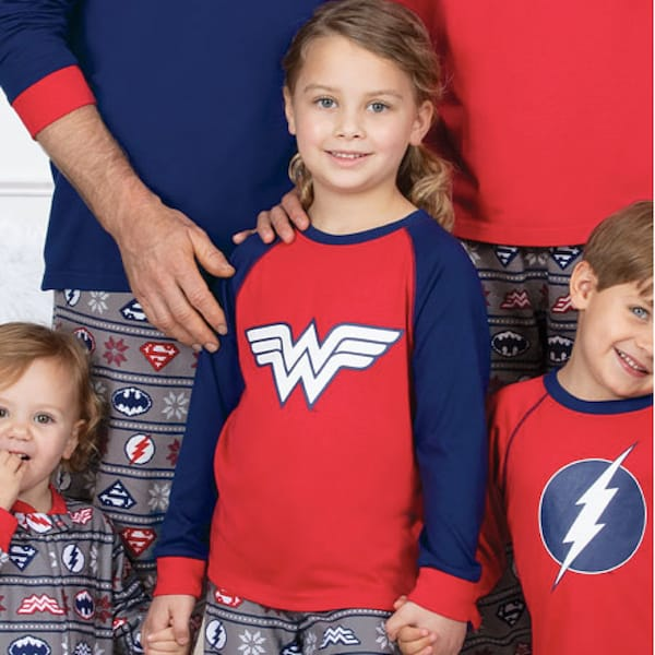 Holiday Justice League Pajama Sets