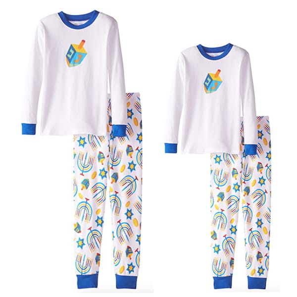 Kids Long John Hanukkah PJs