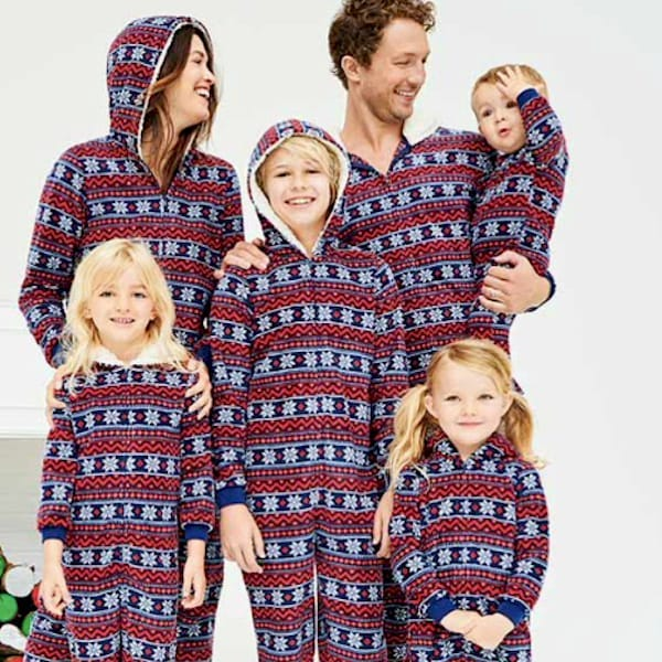 Let it Snow Fair Isle Family Holiday Onesies