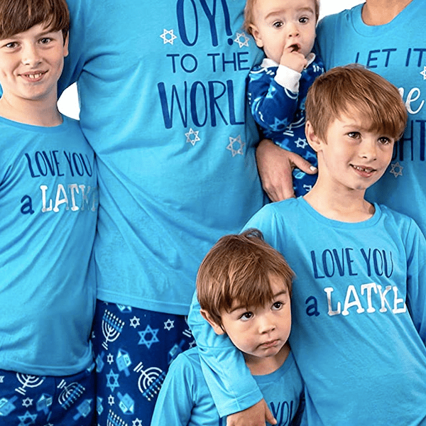 Love You a Latke Hanukkah Family PJ Sets