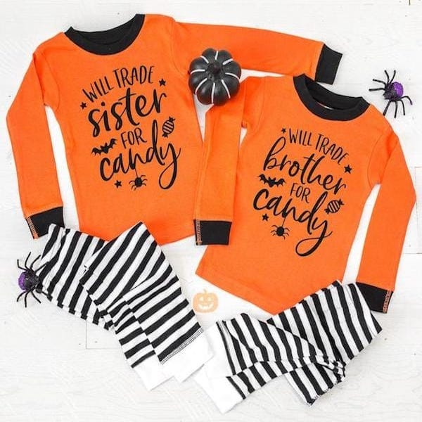 Brother and Sister Halloween Pjs