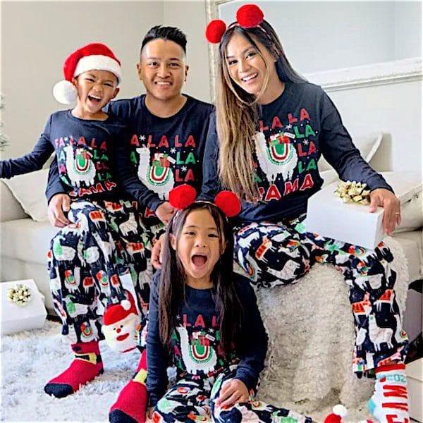 Festive Llama Family Pajamas