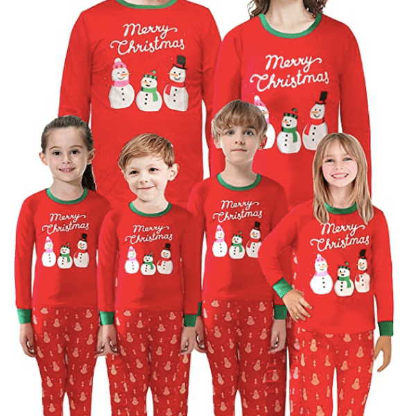 Merry Christmas Snowmen Family PJs