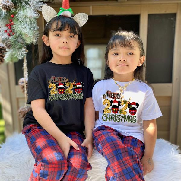 Matching Mickey Family Holiday PJs