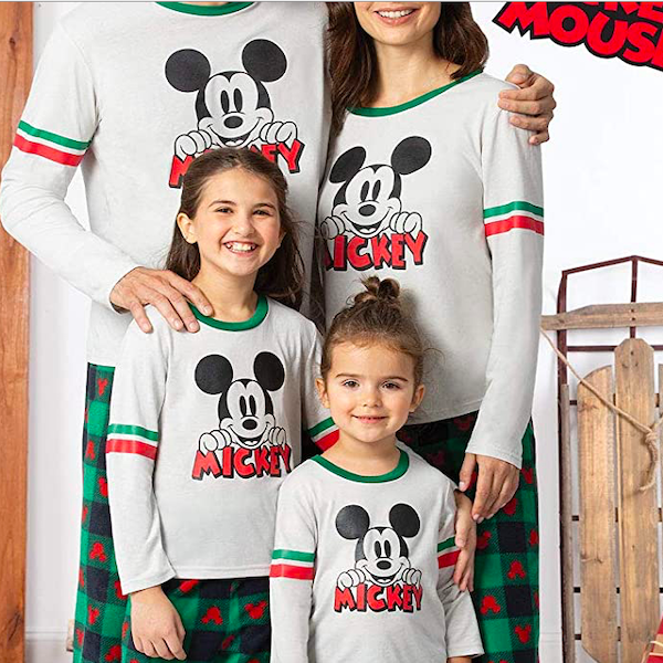 Mickey Mouse Character Themed Family Holiday PJs
