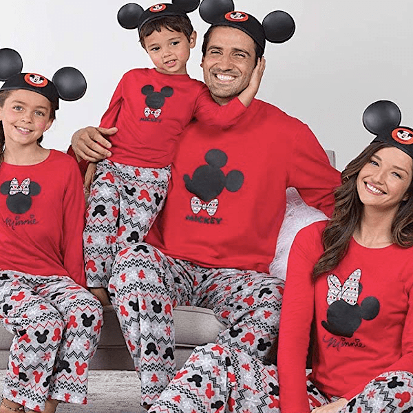 Minnie & Mickey Mouse Fair Isle Character Themed Family Holiday PJs