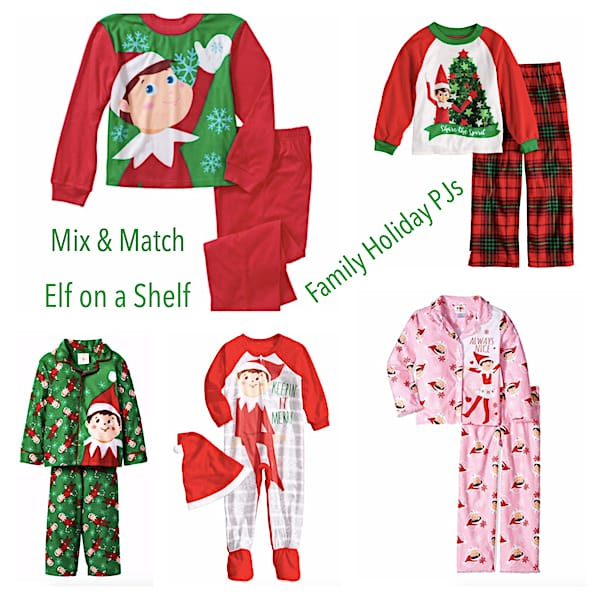 Mix & Match Elf on a Shelf Family Christmas PJs