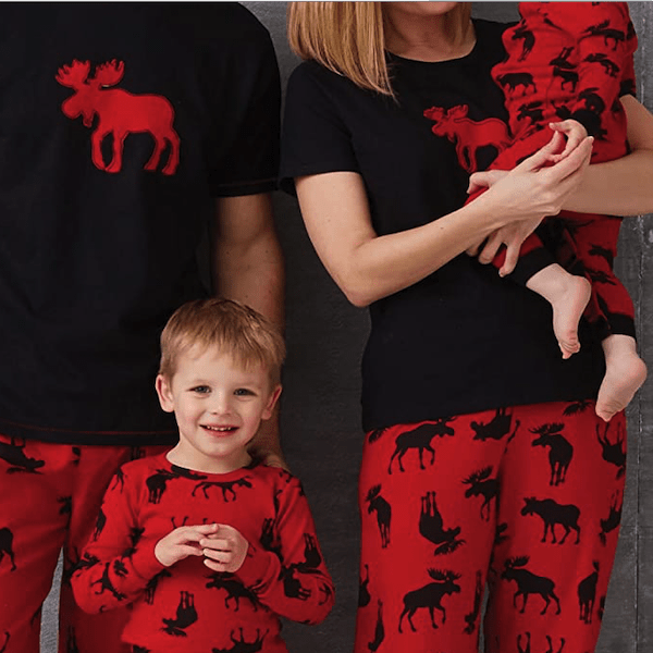 Moose Family Holiday PJs