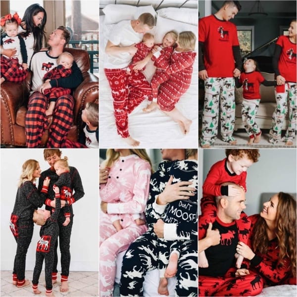 Nordic Moose Family Holiday PJ Collection