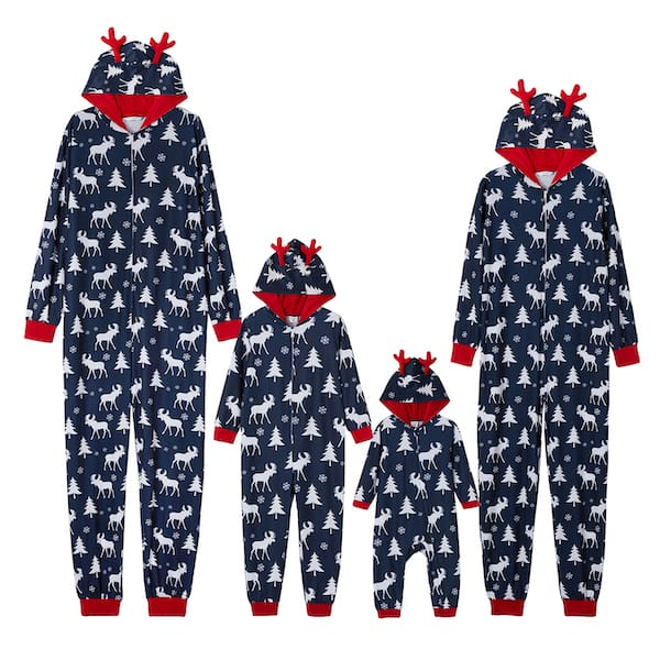 Moose Hooded Cheap Family Holiday Onesies
