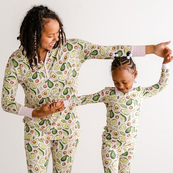 Mommy and Me Avocado Bamboo Viscose PJs