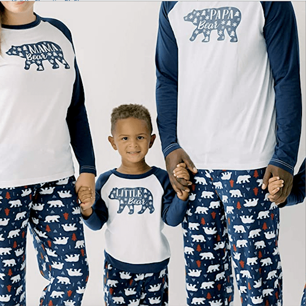 Navy Bear Family Holiday PJs