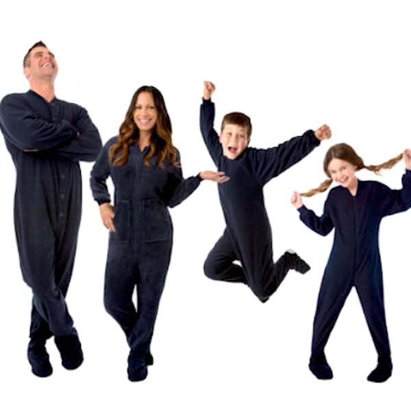 Navy Blue Footed Family Onesies