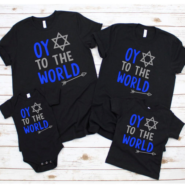 Oy to the World Hanukkah T-Shirts
