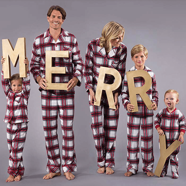 Plaid Family Holiday PJs